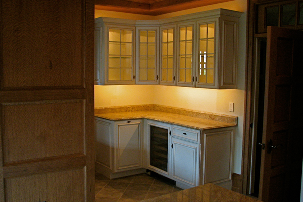 brand new residential kitchen cabinet and countertop lighting