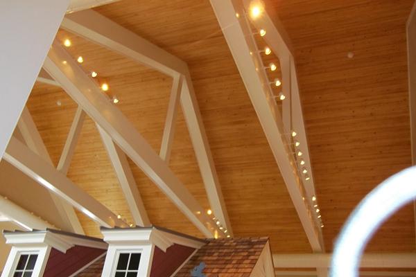 showroom ceiling lighting industrial electrical work