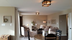 warm living room ceiling home electrical wiring and lighting