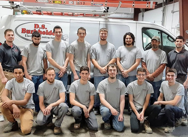 local team of electrical contractors